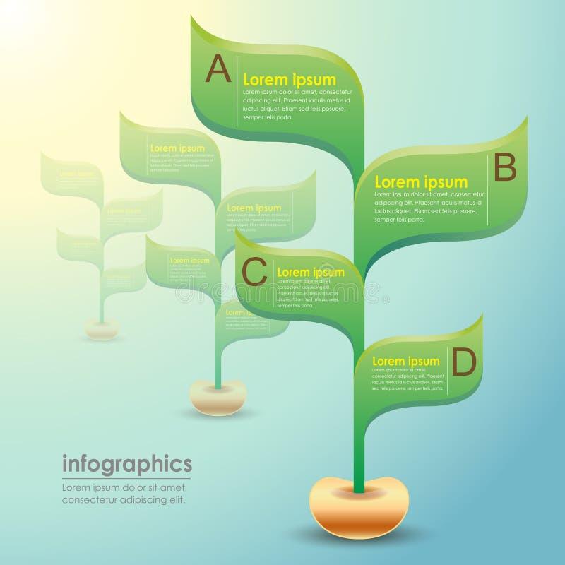 Infographics abstracto de la planta 3d del vector ilustración del vector