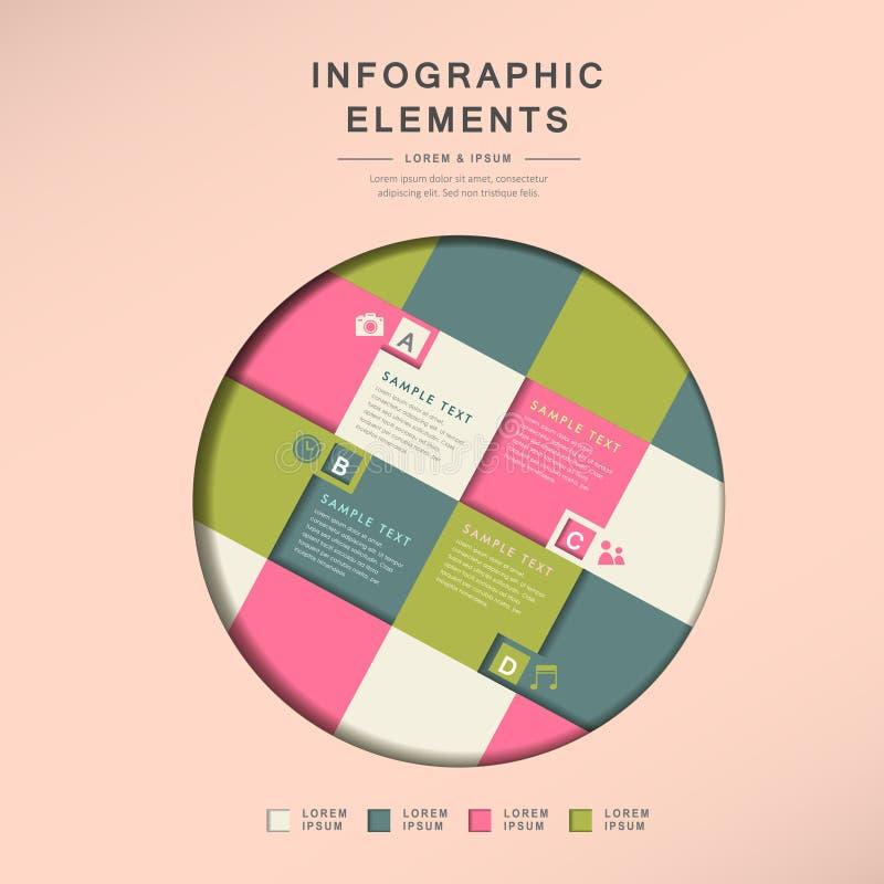 Infographics abstracto de la rejilla del círculo libre illustration