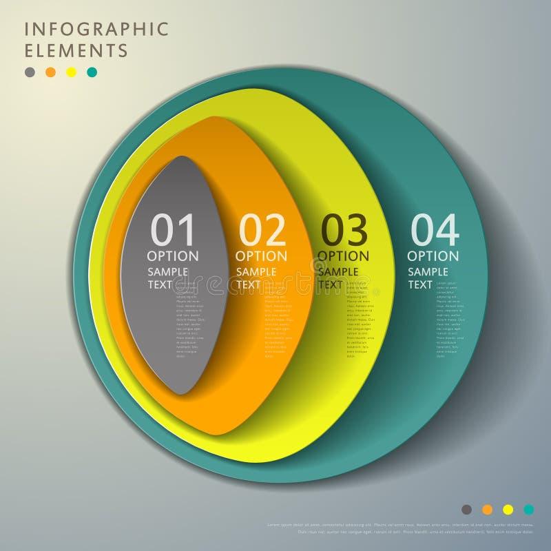 Infographics abstracto de la torre 3d ilustración del vector