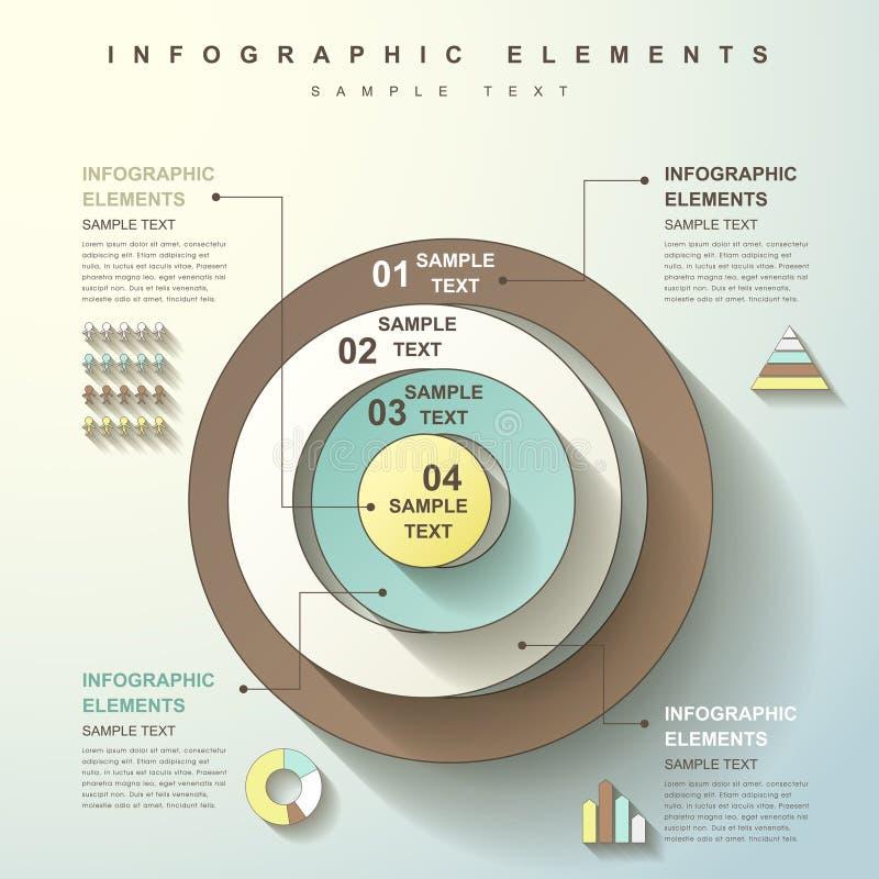 Infographics abstracto de la torre del círculo libre illustration