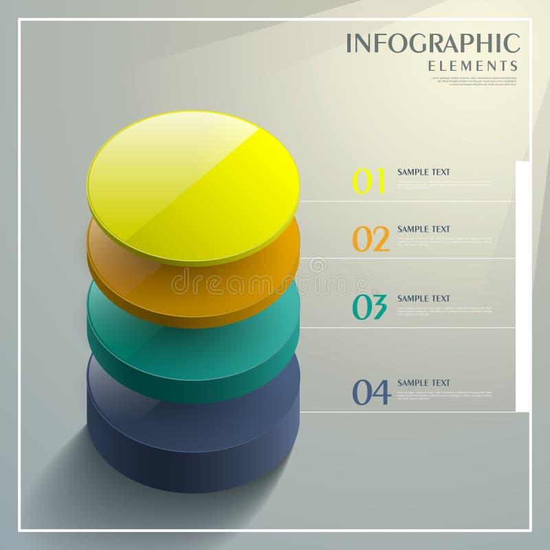 Infographics abstracto de la torre del color 3d libre illustration