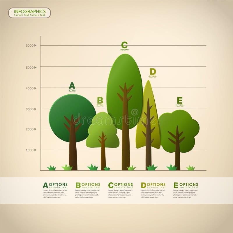 Infographics abstracto del árbol del vector ilustración del vector