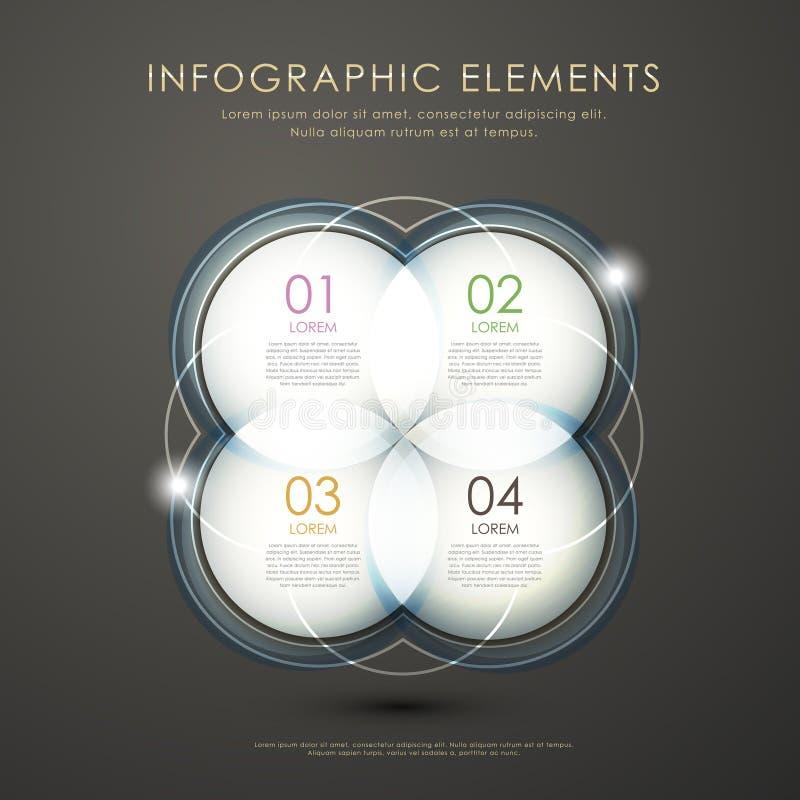 Infographics abstracto del círculo ilustración del vector