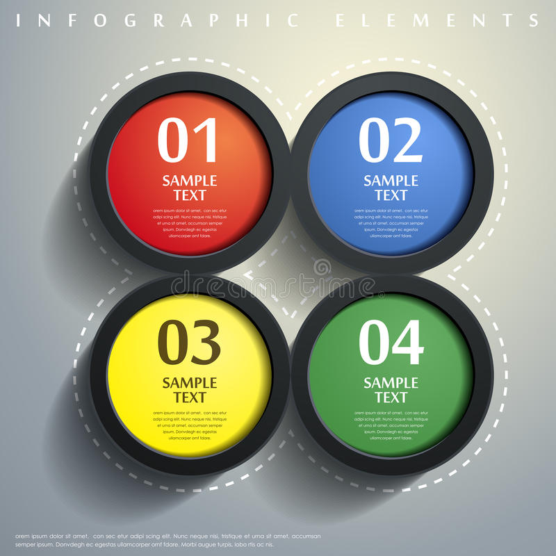 Infographics abstracto del círculo 3d stock de ilustración
