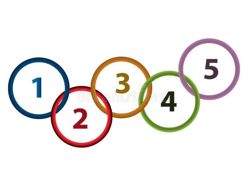 Infographics abstracto del círculo del vector Icono del círculo libre illustration