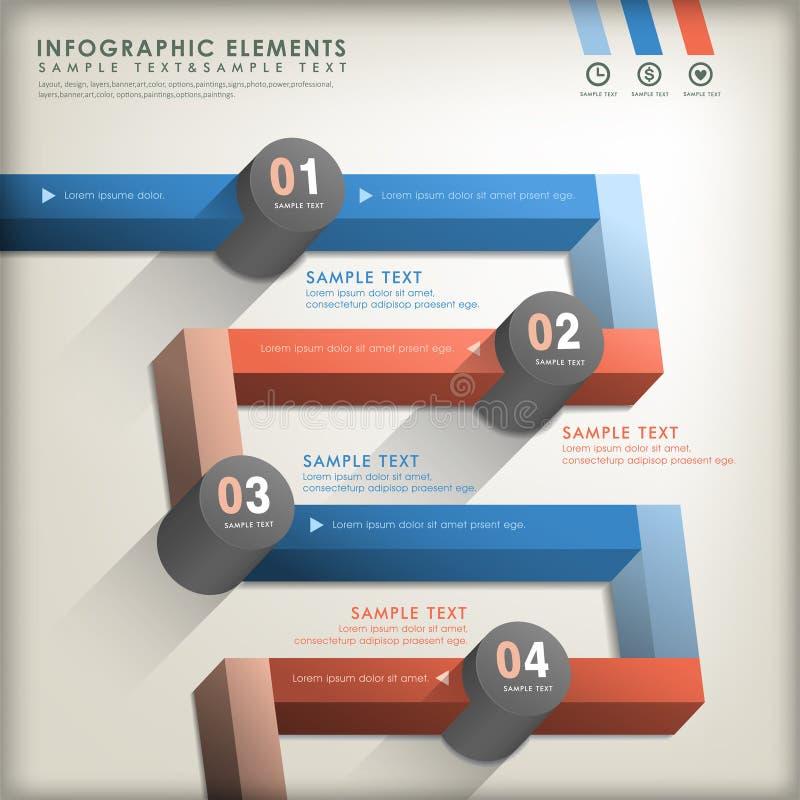 Infographics abstracto del camino 3d ilustración del vector