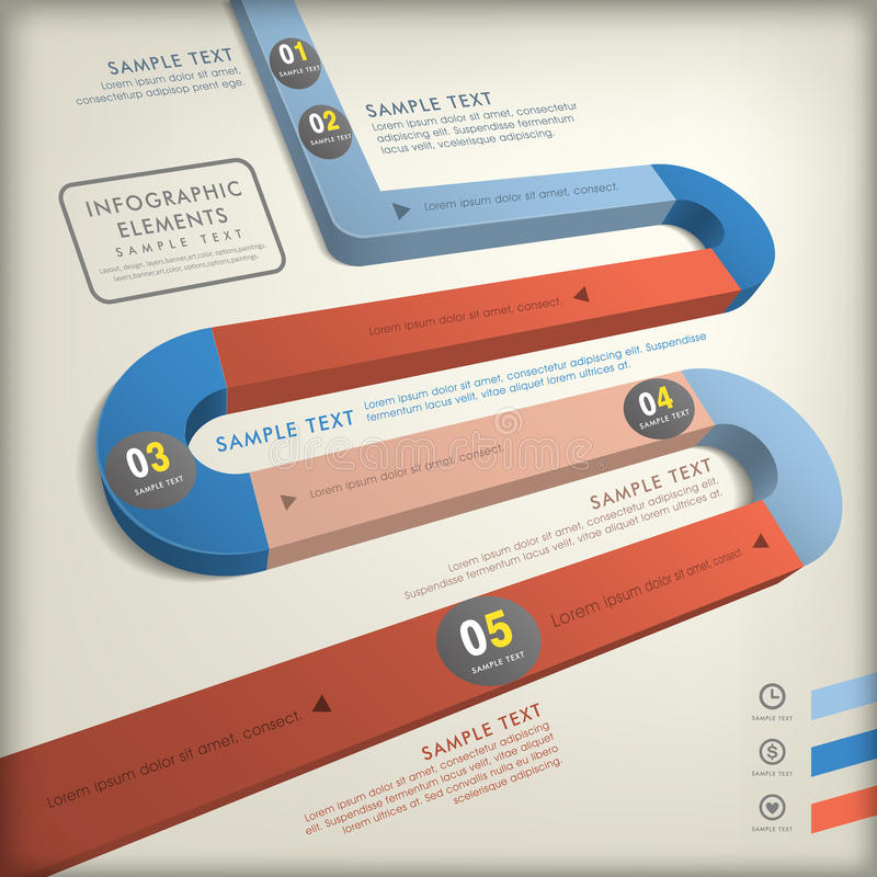 Infographics abstracto del camino 3d libre illustration