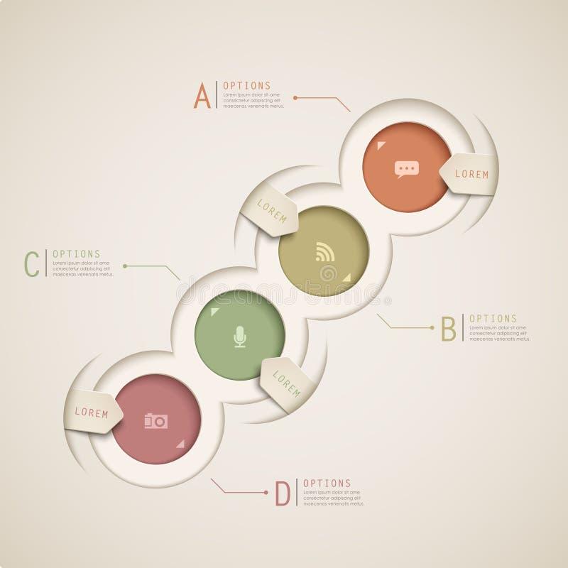 Infographics abstracto del gráfico de sectores libre illustration