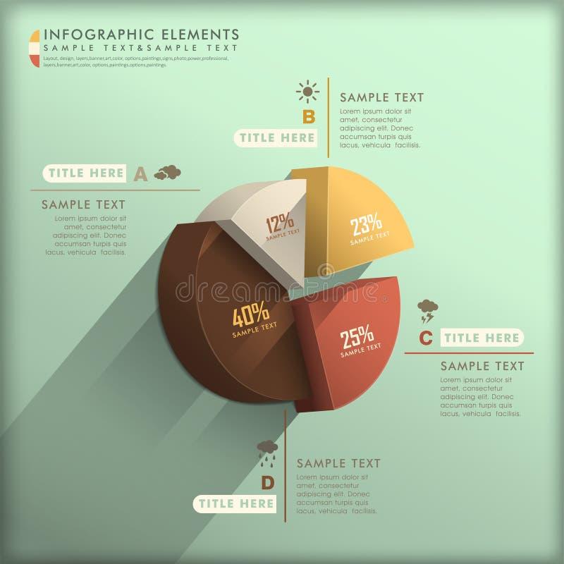 Infographics abstracto del gráfico de sectores 3d libre illustration