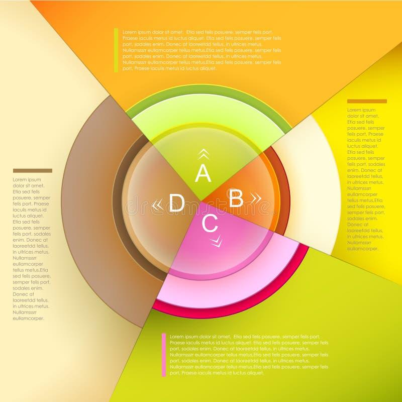 Infographics abstracto del gráfico de sectores del vector ilustración del vector