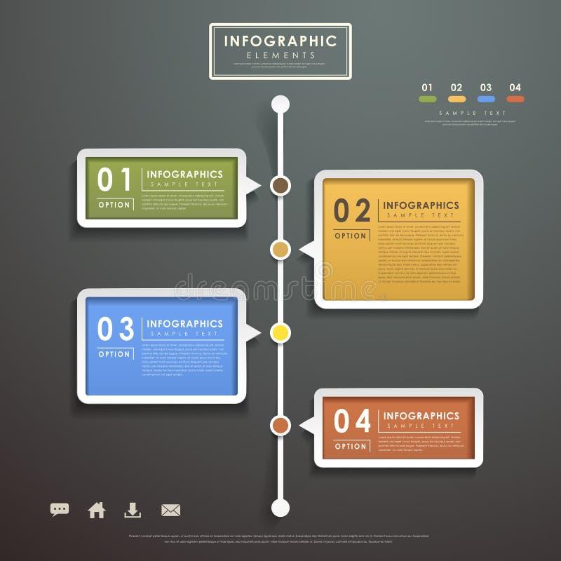 Infographics abstracto del organigrama stock de ilustración