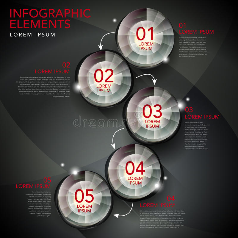 Infographics abstracto del organigrama libre illustration