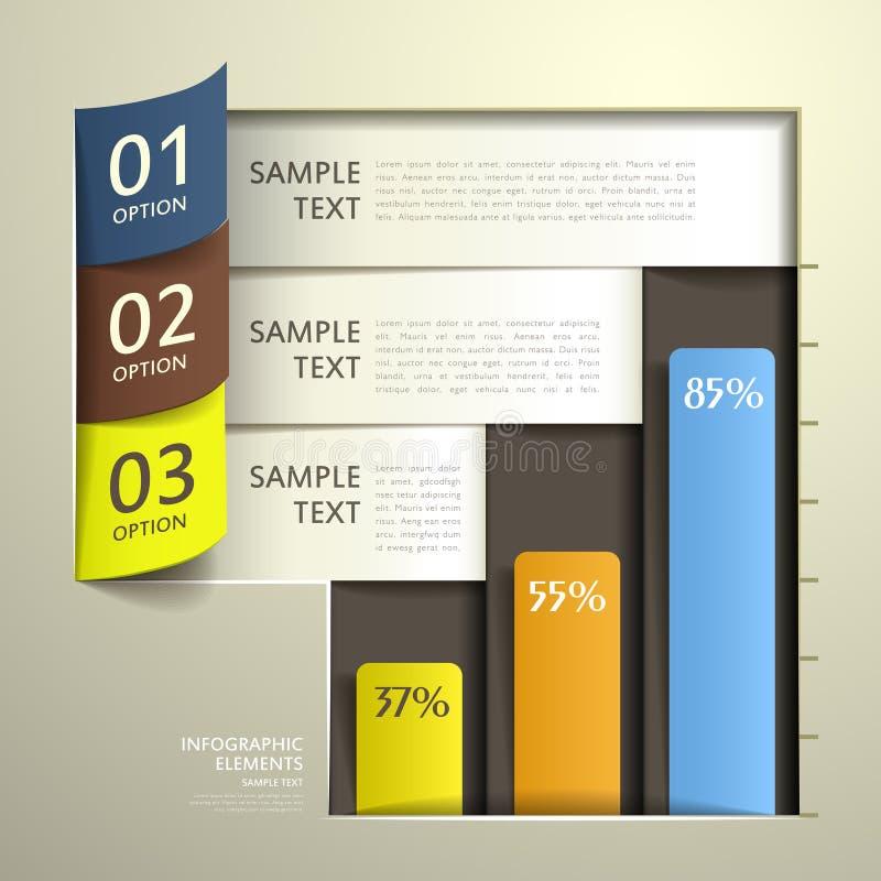 Infographics abstracto del papel 3d libre illustration