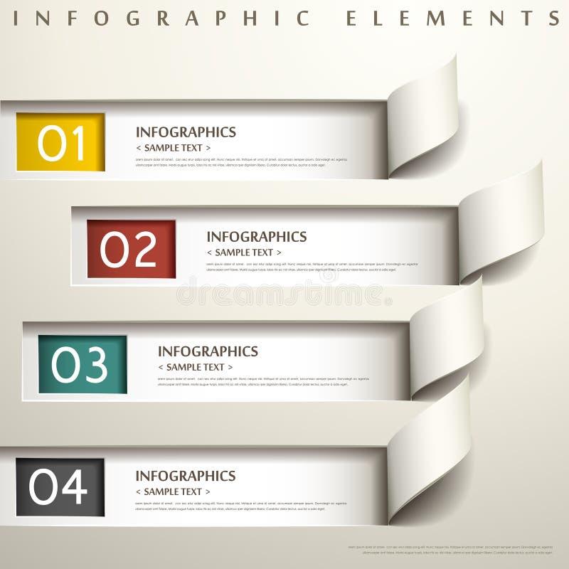Infographics abstracto del papel 3d stock de ilustración