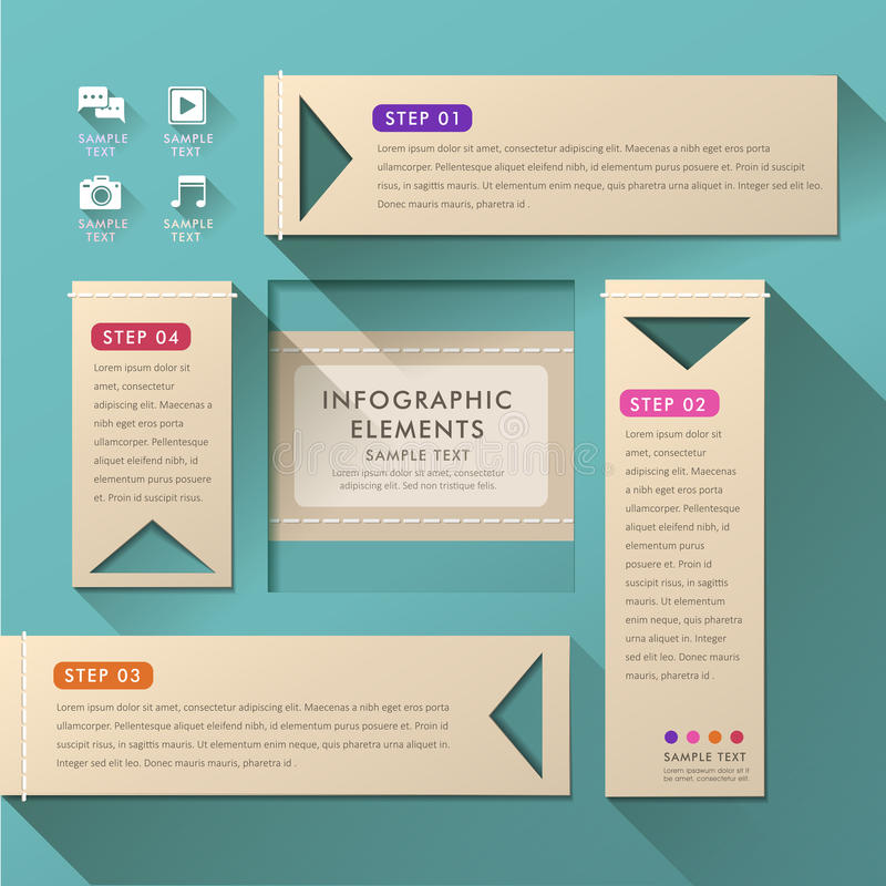 Infographics abstracto del papel 3d libre illustration