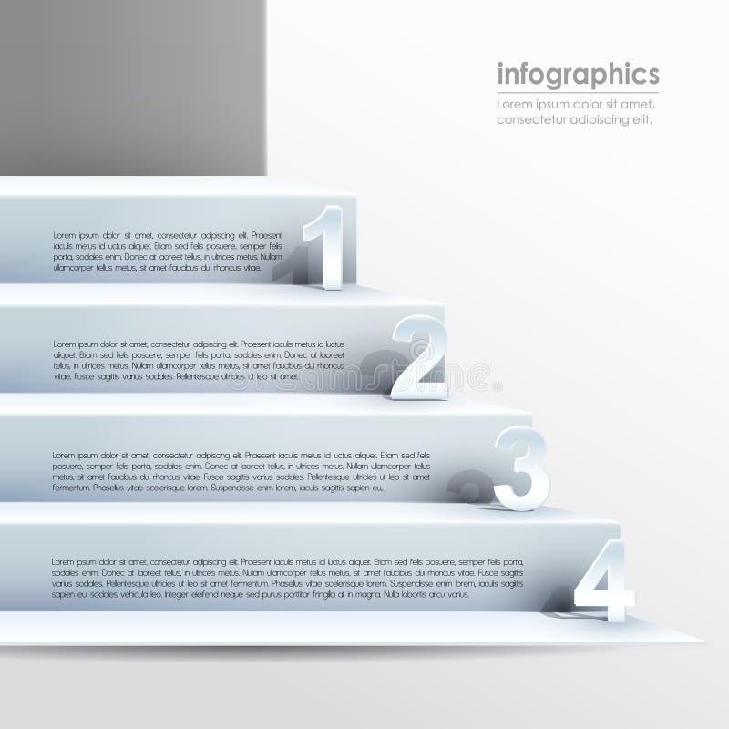 Infographics abstracto del papel 3d del vector stock de ilustración