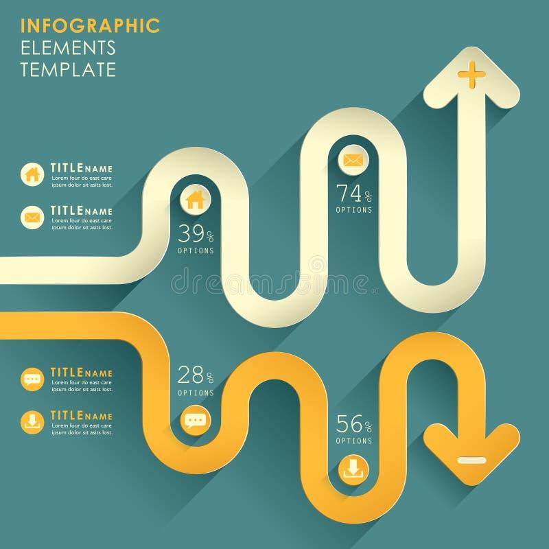 Infographics abstracto del papel 3d del vector ilustración del vector