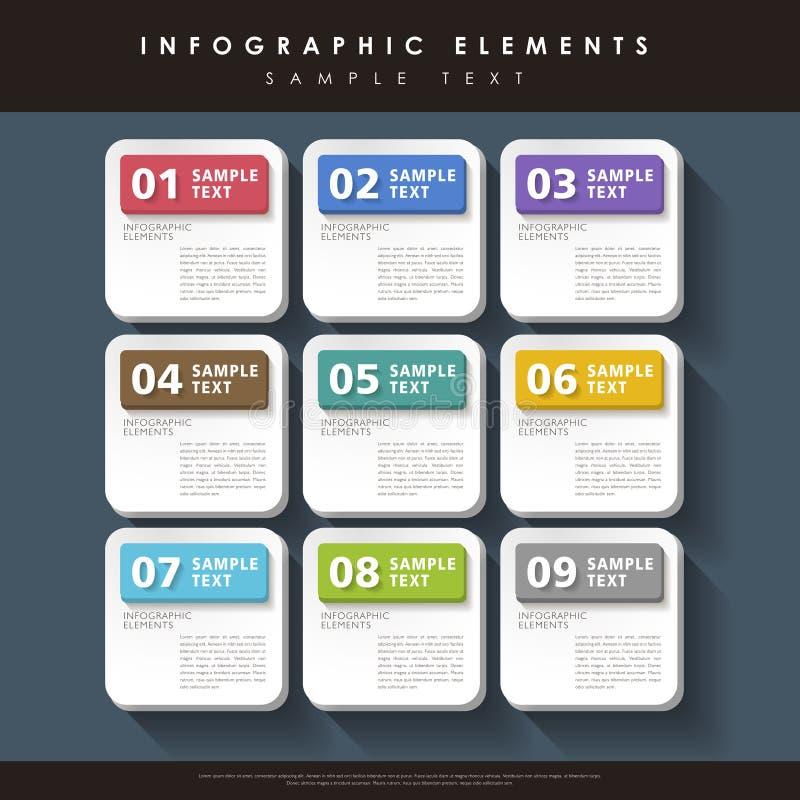 Infographics abstrait d'étiquette illustration stock