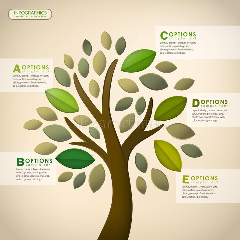 Infographics abstrait d'arbre de vecteur illustration stock