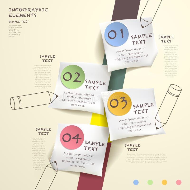 Infographics abstrait d'organigramme illustration de vecteur