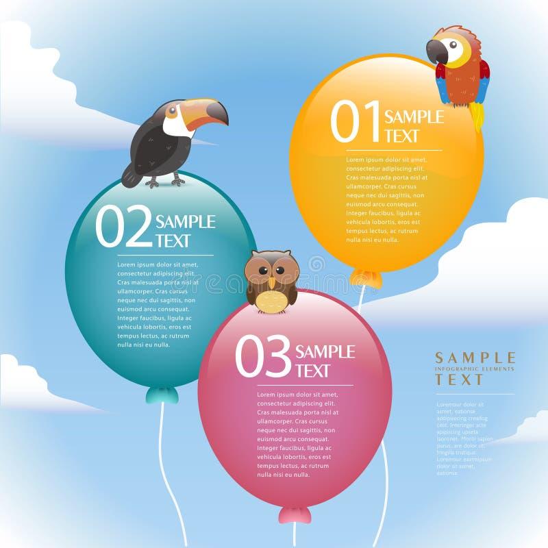 Infographics abstrait de ballon de vecteur illustration de vecteur