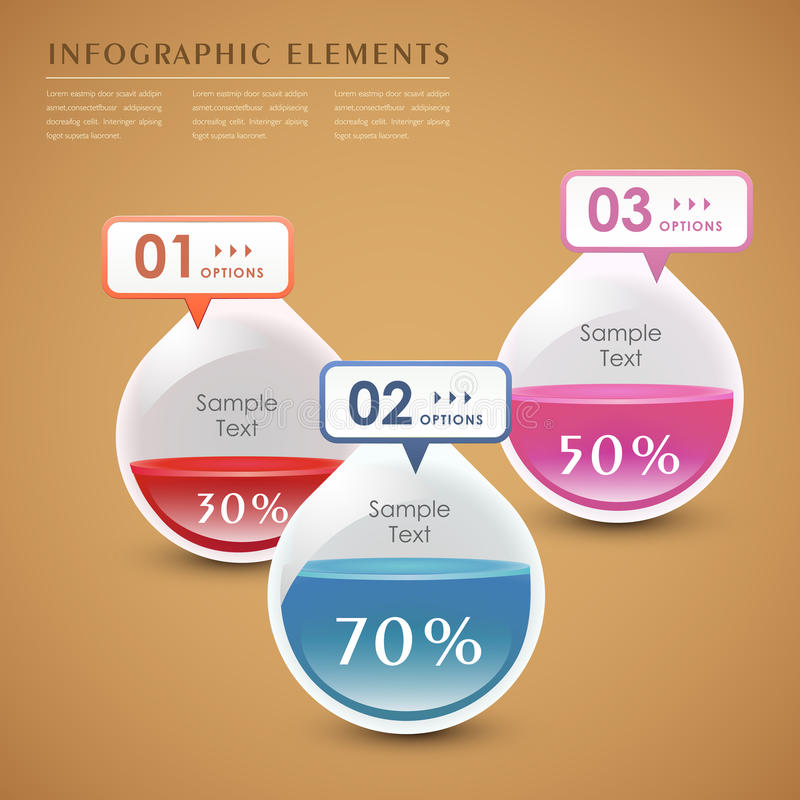 Infographics abstrait de la baisse 3d de vecteur illustration de vecteur