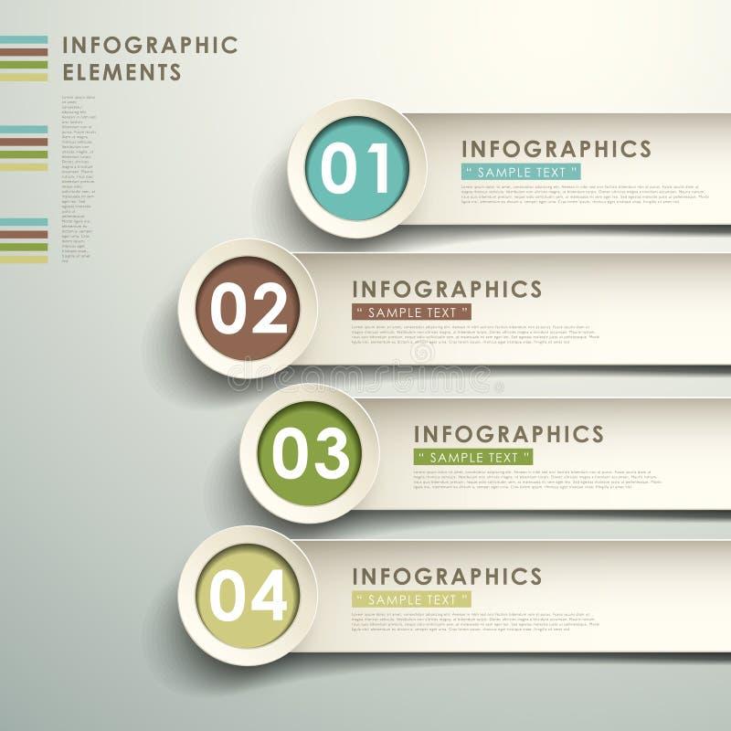 Infographics abstrait du papier 3d illustration stock