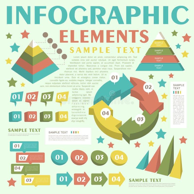 Infographics abstrato ilustração royalty free