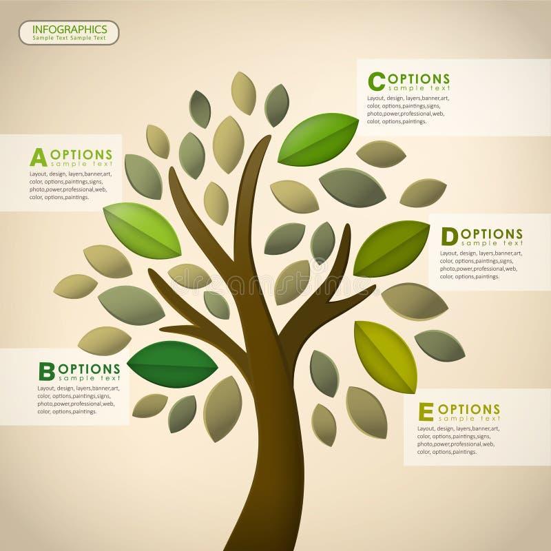 Infographics abstrato da árvore do vetor ilustração stock