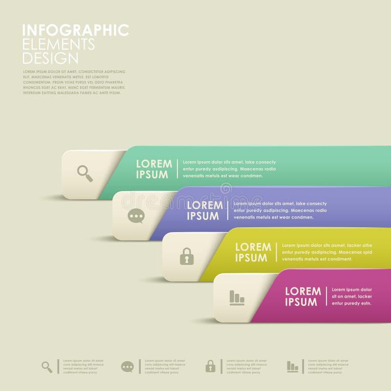 Infographics abstrato da bandeira ilustração royalty free