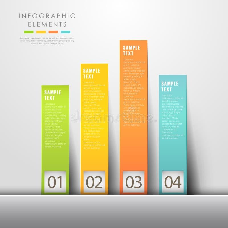 Infographics abstrato da carta ilustração stock