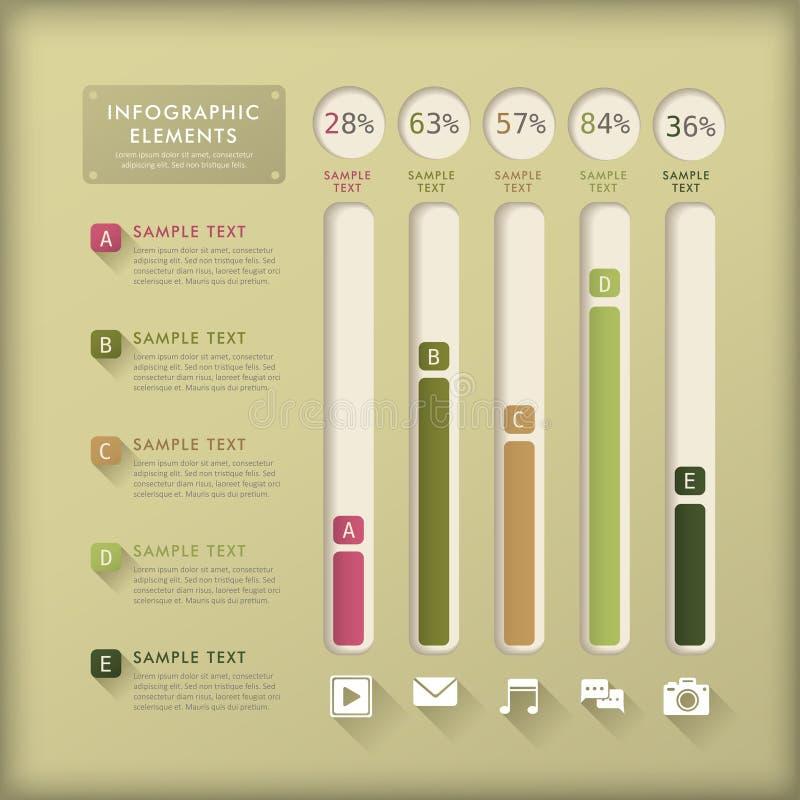 Infographics abstrato da carta de barra ilustração royalty free