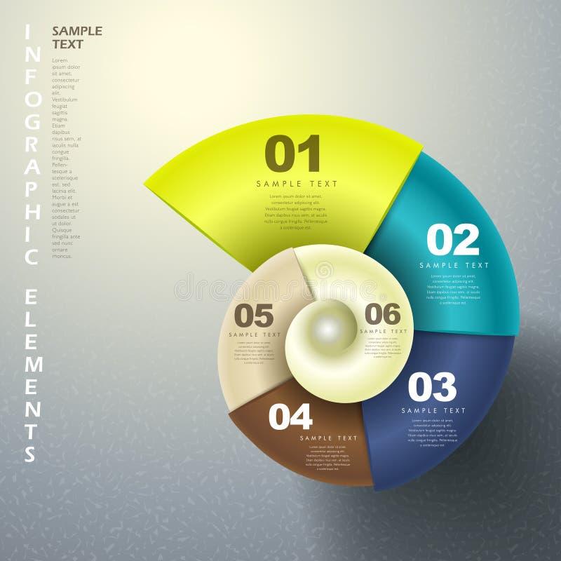 Infographics abstrato da espiral 3d ilustração stock