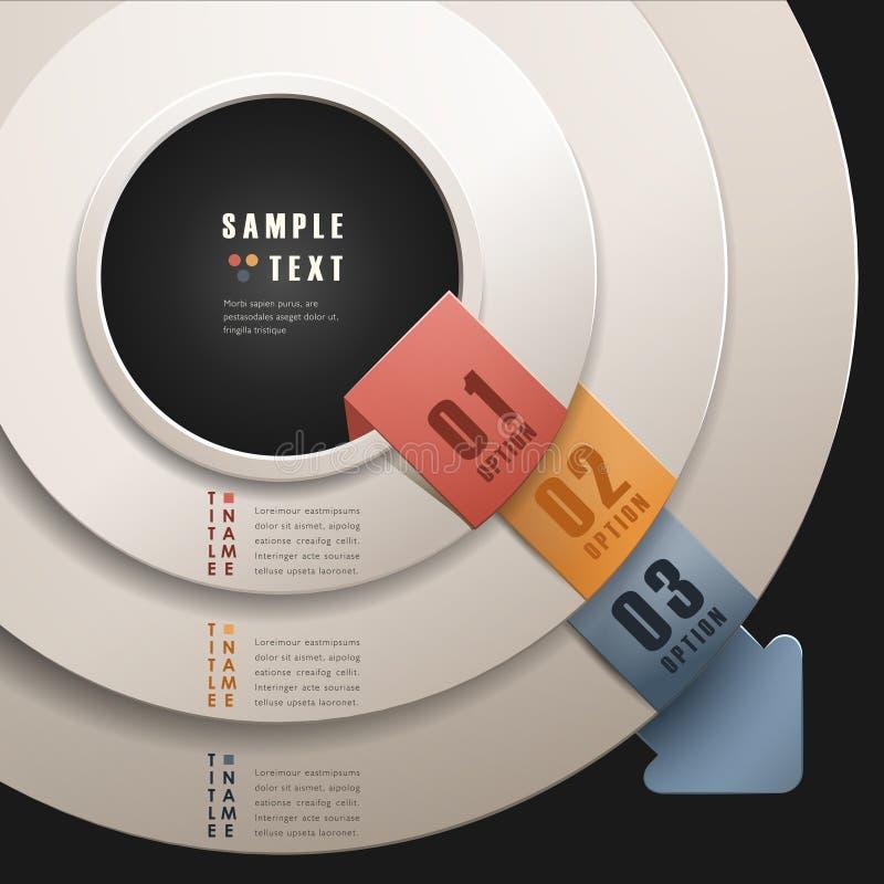 Infographics abstrato do anel 3d do vetor ilustração stock