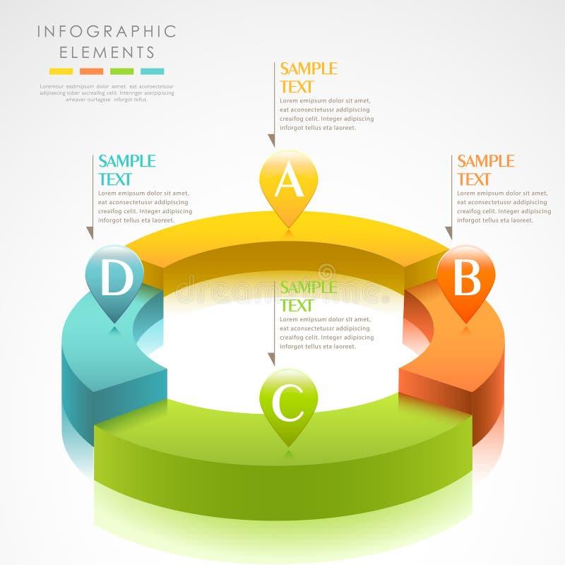 Infographics abstrato do anel 3d do vetor ilustração do vetor