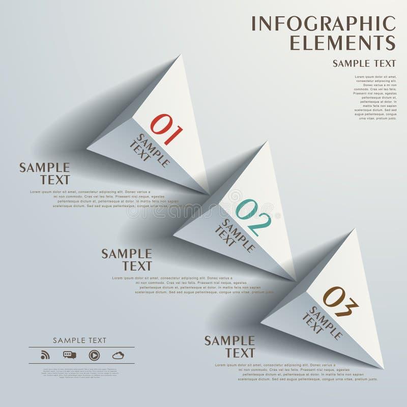 Infographics abstrato do fluxograma ilustração royalty free