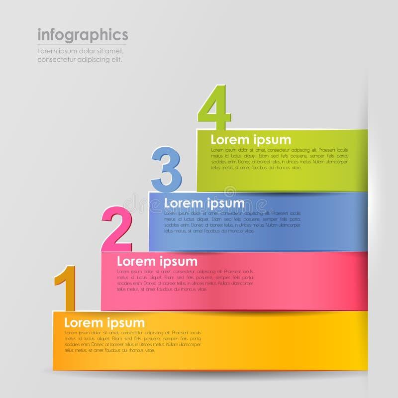Infographics abstrato do papel 3d do vetor ilustração stock
