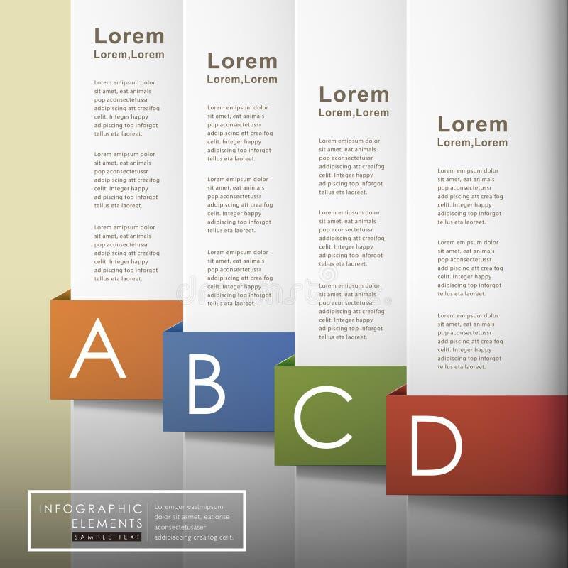 Infographics abstrato do papel 3d do vetor ilustração do vetor