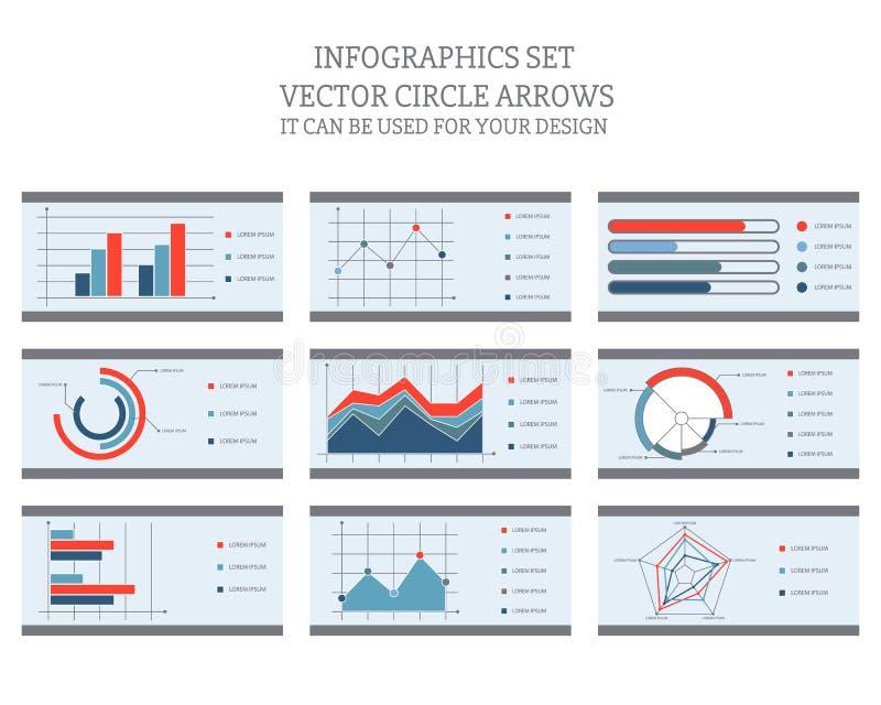 Infographics ajustou-o pode ser usado para seu projeto ilustração do vetor