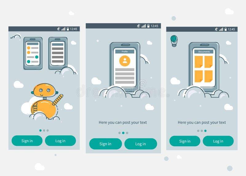 Infographics App шаблон стоковая фотография