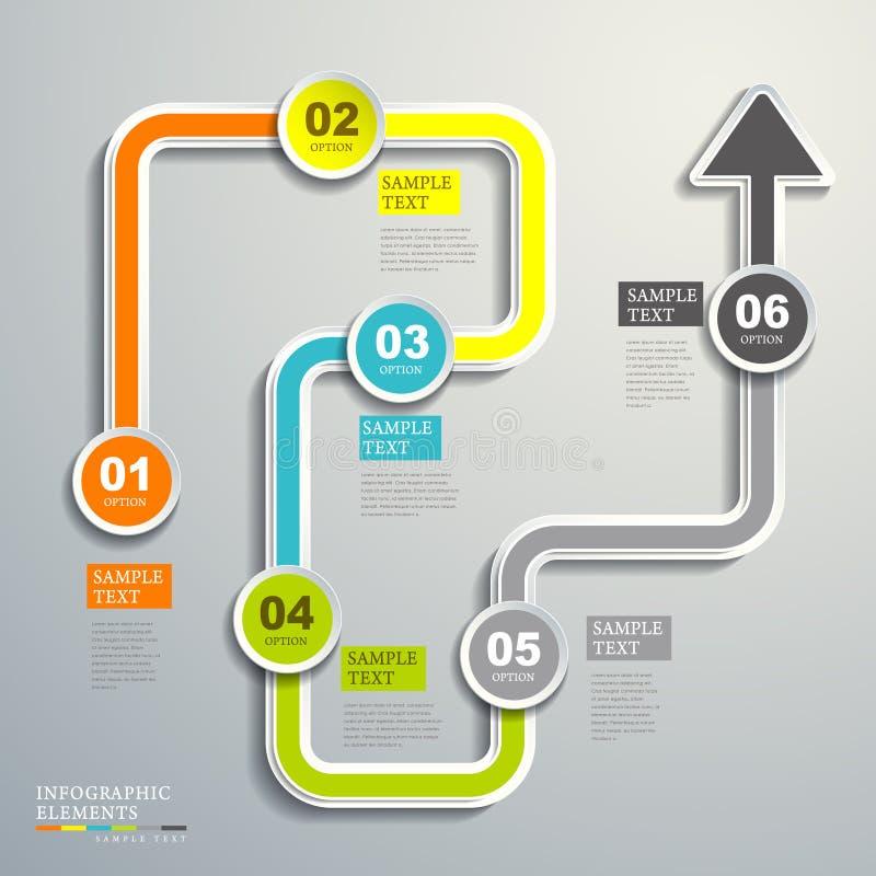 Infographics astratto del diagramma di flusso illustrazione vettoriale