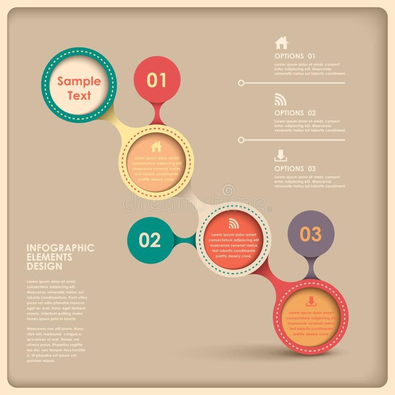 Infographics astratto del diagramma di flusso illustrazione di stock