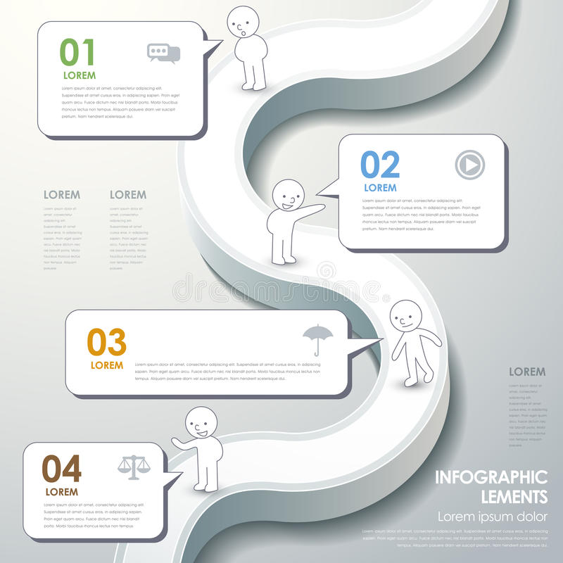 Infographics astratto del diagramma di flusso royalty illustrazione gratis
