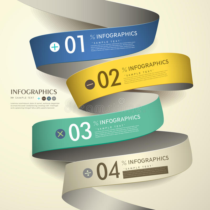 infographics astratto di carta del diagramma di flusso 3d royalty illustrazione gratis