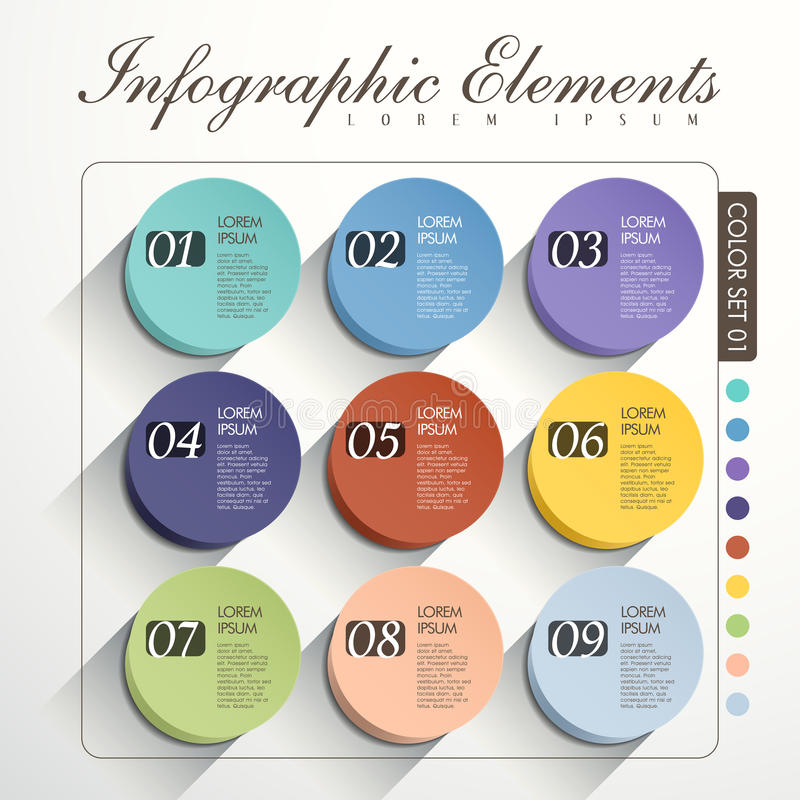 Infographics astratto di opzione royalty illustrazione gratis