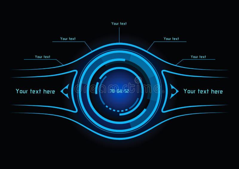 Infographics azul como exhibición de la cabeza-para arriba libre illustration