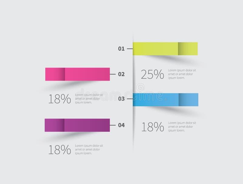 Infographics beståndsdel på väggen vektor illustrationer