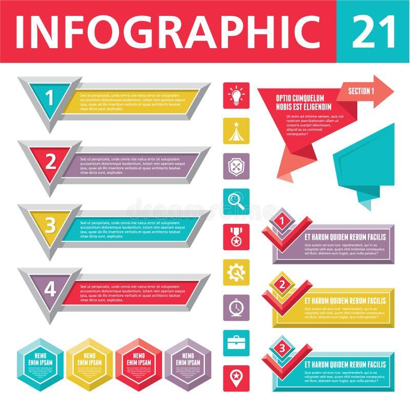 Infographics beståndsdelar 21 royaltyfri illustrationer