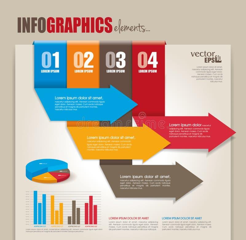 Infographics beståndsdelar vektor illustrationer