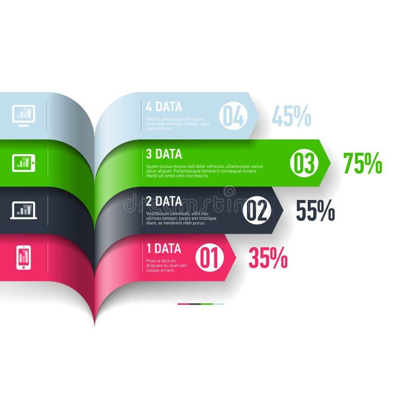 Infographics beståndsdelar royaltyfri illustrationer